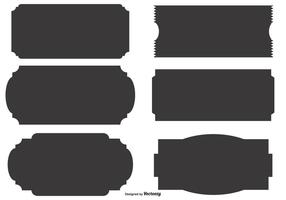Formas de etiqueta do vetor