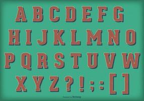 Alfabeto retro del vector del vintage