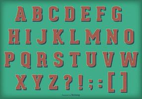 Alfabeto retro do vetor do vintage