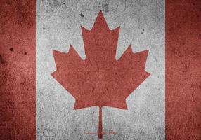 Grunge canadiense vector de la bandera