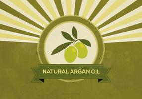 Retro Argan Oil Illustration