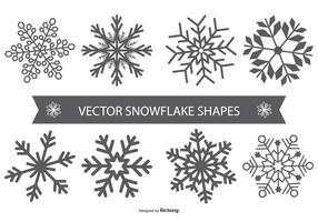 Flocon de neige Vector Shapes
