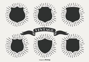 Retro Sunburst Labels