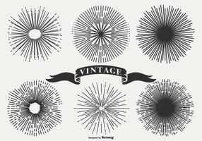 Vintage Sunburst Shapes