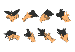 Set of Shadow Hand Puppet Vol. 2
