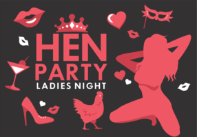 Hen Party Vector Icons