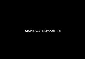 Kickball spelers silhouet vector