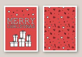 Vector de cartão de Natal grátis