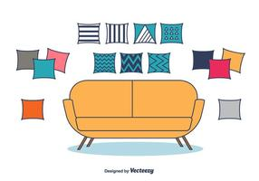 Almohadas decorativas Vector