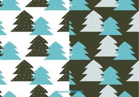 Vecteur de motif d'arbres hivernaux