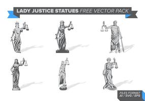 Lady Justice Statue Free Vector Pack