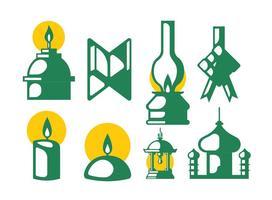 Vetores do elemento ramadan