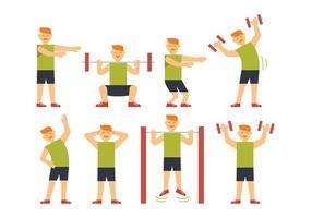 Sportsman träningsvektorer
