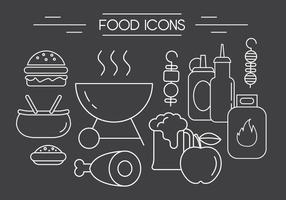 Free barbeque vector icons