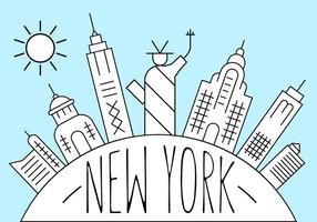 Gratis New York Illustration