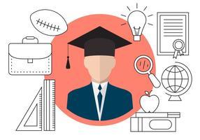 Ícones gratuitos de graduação vetor