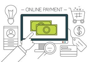 Gratis online shopping vektor illustration