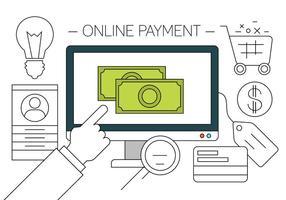 Ilustración vectorial de compras en línea gratis