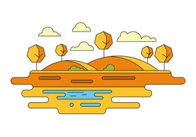 Warm Landschap Vectorillustratie