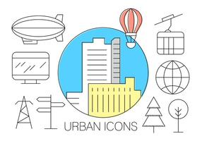Ícones urbanos grátis
