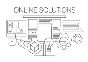 Online Solution Vector Illustration