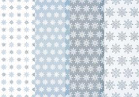 Vector patrones de copos de nieve