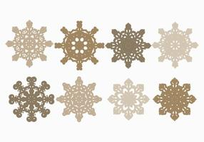 Conjunto de copos de nieve de vector