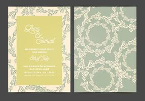 Invitación de la boda del vector