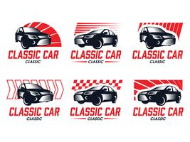 Need for speed classic car silhouette emblems
