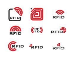 Logotipo RFID vetor