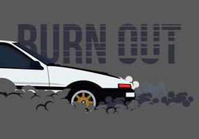 AE86 Car Drifting and Burnout Illustration