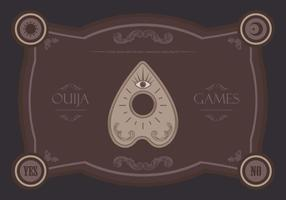 Ouija magiska spel illustration