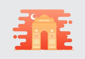 India Gate Landmark Illustratie