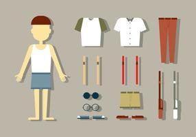 Vecteurs de mode de poupée masculine
