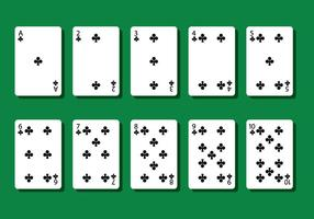 Club Poker Card Vectors