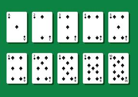 Spade poker kort vektorer