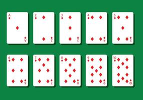 Diamant poker kaart vectoren