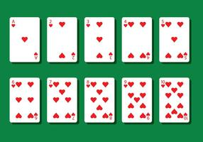 Hart Poker Card Vectoren