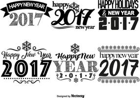 2017 Happy New Year Templates vector