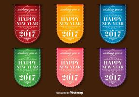 Neujahr 2017 Vector Labels