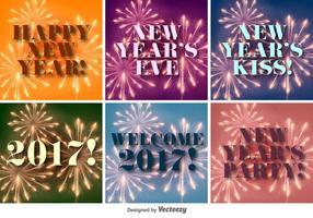 Frohes neues Jahr 2017 Vector Hintergründe