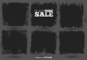 Vector Set Of Black Paint Banner