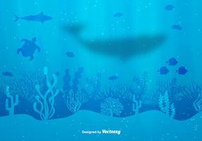 Fondo del vector de fondo del mar