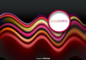 Vector Pink Red And Orange Abstract Wave Template