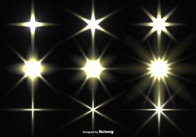Vector Collection Of Glowing Stars