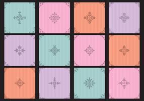 Pequeños patrones coloridos de Toile