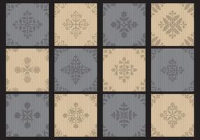 Monochromatic Toile Small Patterns vector