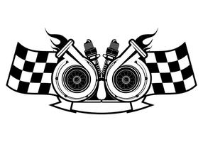 Turbocharger Racing Logotipo Plantilla