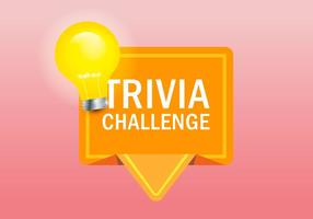Trivia Quiz Logo Illustration vector