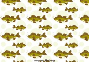 Grön Walleye Seamless Pattern